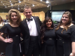 TCC NE Student Participants in the Texas Two-Year College All-State Choir (L-R): Hope Myers, Aaron Kellner, Vanessa Hatcher and Sarah Collier