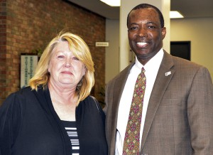 Jack Kent Cooke Undergraduate Transfer Scholarship Recipient, Lori King-Nelson and South Campus President Peter Jordan