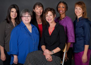 Forward Thinking: District Public Relations and Marketing Team (L to R) -- Sara Rogers, Kendra Prince, Connie Wiebe, Suzanne Cottraux, Rita Parson and DeeDra Parrish