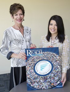 Suzanne Cottraux, Executive Director of Communications, Public Relations and Marketing and REACH Editor-in-Chief and Sara Rogers, District Manager of Marketing Communications and REACH Managing Editor