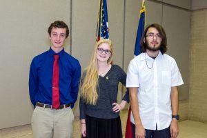 (Pictured L-R) Zachary Stemple, Taylor Cattes, Kellis Ruiz